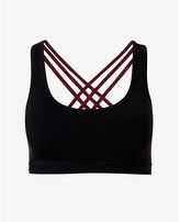 Express black and berry EXP core strappy sports bra