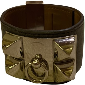 Hermã ̈S HermAs Collier de chien Grey Leather Bracelets