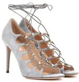 Valentino Rockstud Suede Lace-up Sandals