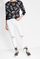 Mother Cropped Distressed Jeans