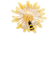 Bubbly Bows Women's Brooches and Pins - Yellow Crystal Flower & Bee Brooch