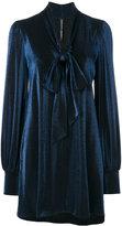 Plein Sud Jeans bishop sleeve mini dress