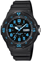 Casio Mens Black Resin Strap Diver Sport Watch MRW200H-2BV