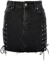 Topshop TALL Side Lace Up Mini Skirt