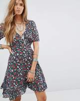 Denim & Supply By Ralph Lauren Wrap Dress With Floral Rose Print
