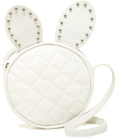Capelli of New York Quilted Faux Leather Bunny Crossbody