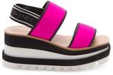 Stella McCartney Logo Neon Platform Slingback Sandals