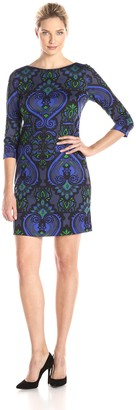 Jessica Howard Women's Printed Shift Dress