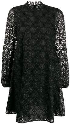Giamba lace-embroidered mini dress