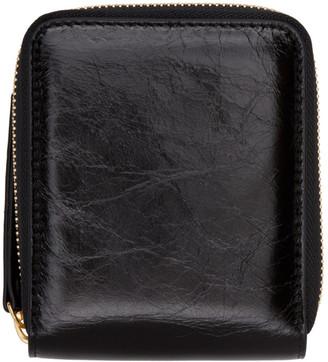 Maison Margiela Black Leather Medium Zip Around Wallet