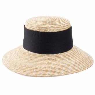 Lawliet Elegant Casablanca Style Womens Wide Brim Maize Straw Derby Hat A492