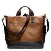 Bleecker Utility Tote in Colorblock leather