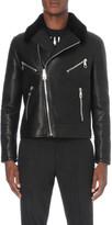 Neil Barrett Shearling lined biker jacket