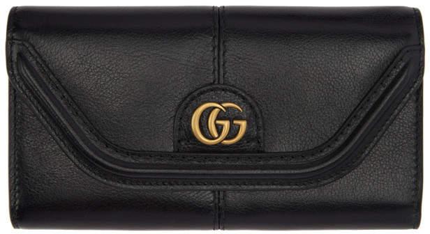 Gucci Black GG Default Flap Wallet