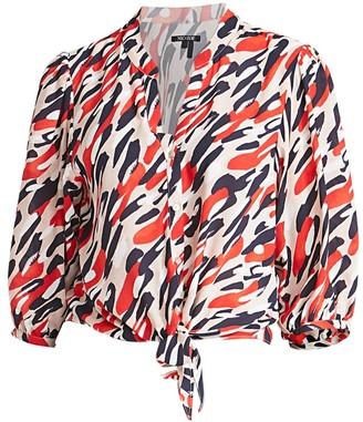 Nic+Zoe Santa Fe Button-Up Tie Shirt