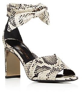 Marion Parke Women's Leah Ankle Tie High Heel Sandals