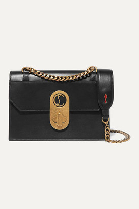 Christian Louboutin Elisa Small Leather Shoulder Bag - Black