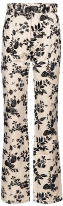 Rodarte Floral straight-fit jeans