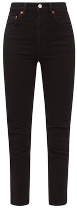 RE/DONE High-rise Cropped Jeans - Black