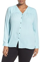 Sejour Plus Size Women's V-Neck Blouse