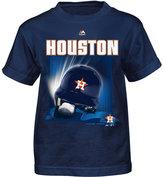 Majestic Little Boys' Houston Astros Kinetic Helmet T-Shirt