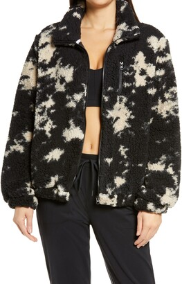 Zella Faux Fur Print Jacket