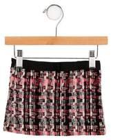 Milly Minis Girls' Wool Tweed Skirt