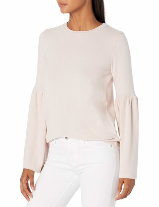 Michael Stars Women's Madison Brushed Jersey Open Neck Bell Sleeve Top