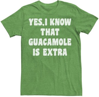 Licensed Character Men's Yes I Know Guacamole Is Extra Funny Tee