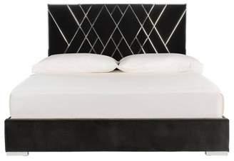 Safavieh Bermudez Velvet King Bed Giotto Shale