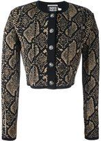 Fausto Puglisi snake print effect cardigan - women - Polyamide/Polyester/Viscose - 42