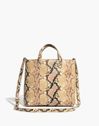 Madewell The Zip-Top Transport Crossbody: Snake Embossed Leather Edition