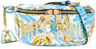 Moschino chain print belt bag