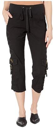 XCVI Variete Crop Pants in Stretch Poplin (Black) Women's Casual Pants