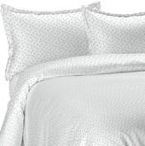 Melange Home 400 Thread Count 100% Cotton Chic Floral Duvet Set - Blue