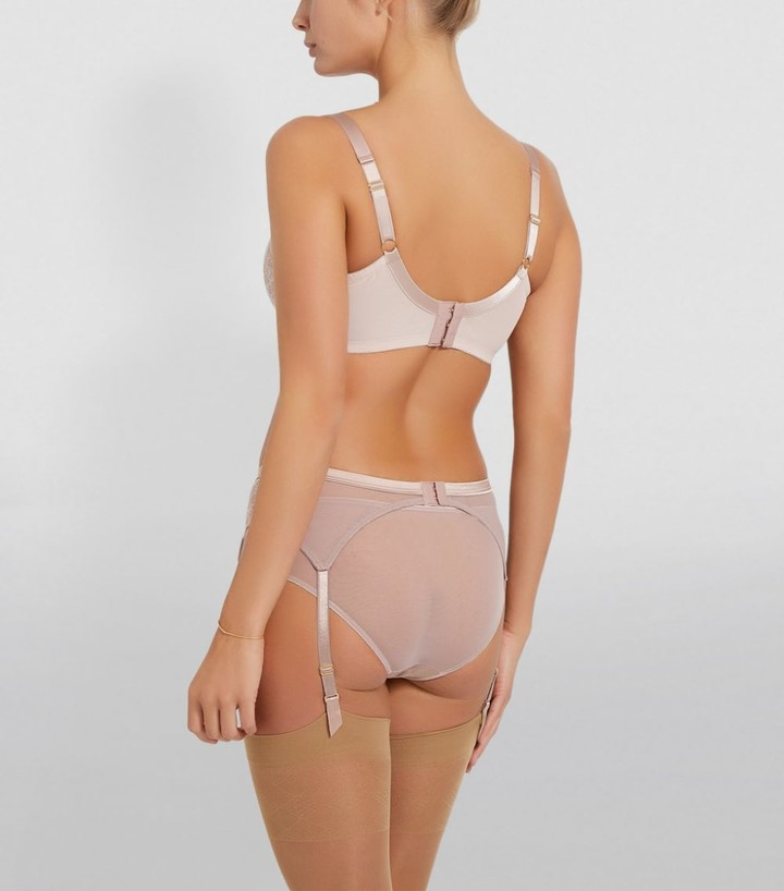 Thumbnail for your product : KATHERINE HAMILTON Abbie Silk Lace Suspender Belt