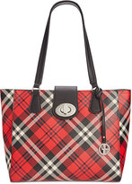 Giani Bernini Plaid Tote, Only at Macy's