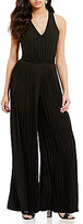 Laundry by Shelli Segal V-Neck Pleated Jumpsuit