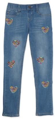 Vigoss Girls Reversible Flip Sequin Pull-On Skinny Jeans