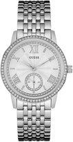 GUESS Silver-Tone Feminine Classic Dress Watch