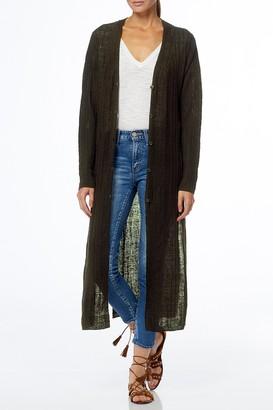 360 Cashmere Autumn Linen Duster Cardigan