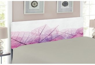 East Urban Home Leaf Upholstered Panel Headboard Size: Queen