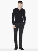 John Varvatos Silk & Cashmere Henley Sweater