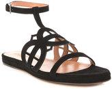 Laser cut-out sandals