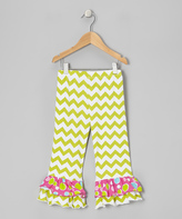 Flap Happy Meadow Zigzag Double Ruffle Pants - Toddler & Girls