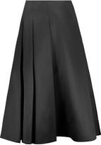 Jason Wu Pleated silk and cotton-blend satin skirt