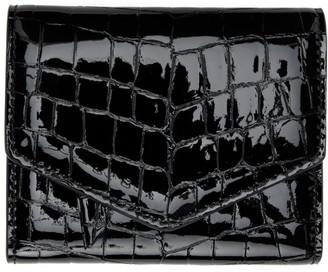 Maison Margiela Black Croc Patent Envelope Wallet
