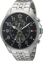 Tommy Hilfiger Men's 1791276 Analog Display Quartz Silver Watch