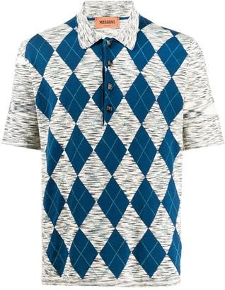 Missoni Argyle Patterned Shortsleeved Polo Shirt