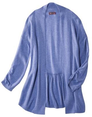 Merona Women's Open Front Shirred Sleeve Cardigan Sweater - Assorted Colors